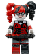 Minifig No: sh398  Name: Harley Quinn - Black and Red Tutu