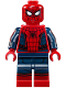 Minifig No: sh420  Name: Spider-Man - Black Web Pattern, Red Torso Small Vest, Red Boots