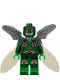 Minifig No: sh433  Name: Parademon - Dark Green, Collapsed Wings