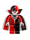 Minifig No: sh453  Name: Harley Quinn - Cannon Ball Suit
