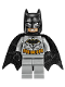 Minifig No: sh531  Name: Batman, Medium Nougat Face, Light Bluish Gray Suit