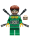 Minifig No: sh548  Name: Dr. Octopus (Otto Octavius) / Doc Ock - Green Outfit