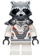 Minifig No: sh569  Name: Rocket Raccoon - White Jumpsuit