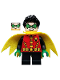 Minifig No: sh588  Name: Robin - Green Mask and Hands, Black Short Legs, Yellow Scalloped Cape