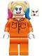 Minifig No: sh599  Name: Harley Quinn - Prison Jumpsuit