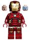 Minifig No: sh612  Name: Iron Man with Silver Hexagon on Chest