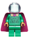 Minifig No: sh620  Name: Mysterio, Light Aqua Head, Trans-Clear Helmet