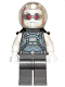 Minifig No: sh621  Name: Mr. Freeze, Pearl Dark Gray, Neck Bracket with 4 Angled Handles