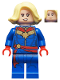 Minifig No: sh639  Name: Captain Marvel - Bright Light Yellow Hair