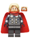 Minifig No: sh645  Name: Thor - Spongy Cape (Juniors), Pearl Dark Gray Legs