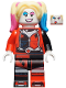 Minifig No: sh650  Name: Harley Quinn - Jacket Open, Corset