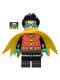 Minifig No: sh651  Name: Robin - Green Mask and Hands, Black Medium Legs, Yellow Scalloped Cape