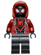 Minifig No: sh679  Name: Spider-Man (Miles Morales) - Dark Red Hood