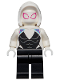 Minifig No: sh682  Name: Ghost Spider / Spider-Gwen, White Hood Basic Smooth