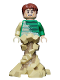 Minifig No: sh685  Name: Sandman - Green Outfit, Tan Sand Form with Swirling Base