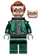 Minifig No: sh687  Name: Dr. Octopus (Otto Octavius) / Doc Ock - Dark Green Suit