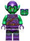 Minifig No: sh695  Name: Green Goblin - Bright Green, Dark Purple Outfit