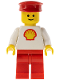 Minifig No: shell013  Name: Shell - Classic - Red Legs, Red Hat