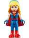 Minifig No: shg011  Name: Supergirl - Blue Legs and Red Boots, Blue Gloves