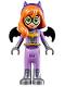 Minifig No: shg012  Name: Batgirl - Medium Lavender Legs, Flat Silver Boots