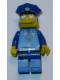 Minifig No: sim023  Name: Chief Wiggum with Doughnut Frosting on Face and Shirt