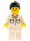 Minifig No: soc001  Name: Shirt with 2 Pockets, White Legs, Black Ponytail Hair