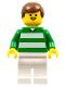 Minifig No: soc002  Name: Soccer Player Green & White Team  #4 on Back