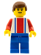Minifig No: soc003  Name: Soccer Player Red & Blue Team #11 on Back