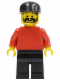 Minifig No: soc007  Name: Plain Red Torso with Red Arms, Black Legs, Black Cap