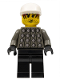 Minifig No: soc009  Name: Soccer Player Green & White Team Goalie with #1 on Back