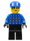 Minifig No: soc010  Name: Soccer Player Red & Blue Team Goalie with #1 on Back