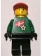 Minifig No: soc011s01  Name: Soccer Player - Danish Goalie, Danish Flag Torso Sticker on Front, White Number Sticker on Back (1, 18 or 22, specify number in listing)