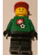 Minifig No: soc011s03  Name: Soccer Player - Swiss Goalie, Swiss Flag Torso Sticker on Front, White Number Sticker on Back (1, 18 or 22, specify number in listing)