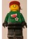 Minifig No: soc011s04  Name: Soccer Player - Welsh Goalie, Welsh Flag Torso Sticker on Front, White Number Sticker on Back (1, 18 or 22, specify number in listing)