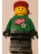 Minifig No: soc011s05  Name: Soccer Player - Norwegian Goalie, Norwegian Flag Torso Sticker on Front, White Number Sticker on Back (1, 18 or 22, specify number in listing)