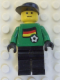Minifig No: soc012s01  Name: Soccer Player - German Goalie, German Flag Torso Sticker on Front, White Number Sticker on Back (1, 18 or 22, specify number in listing)