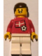 Minifig No: soc018s01  Name: Soccer Player - Danish Player 1, Danish Flag Torso Sticker on Front, Black Number Sticker on Back (specify number in listing)