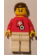 Minifig No: soc018s03  Name: Soccer Player - Swiss Player 1, Swiss Flag Torso Sticker on Front, Black Number Sticker on Back (specify number in listing)