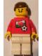 Minifig No: soc018s04  Name: Soccer Player - Welsh Player 1, Welsh Flag Torso Sticker on Front, Black Number Sticker on Back (specify number in listing)