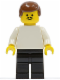 Minifig No: soc019  Name: Soccer Player White/Black Team Player 1