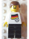 Minifig No: soc019s01  Name: Soccer Player - German Player 1, German Flag Torso Sticker on Front, Black Number Sticker on Back (specify number in listing)