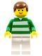Minifig No: soc022  Name: Soccer Player Green & White Team  #2 on Back