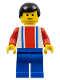 Minifig No: soc023  Name: Soccer Player Red & Blue Team  #2 on Back