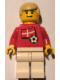 Minifig No: soc024s01  Name: Soccer Player - Danish Player 2, Danish Flag Torso Sticker on Front, Black Number Sticker on Back (specify number in listing)