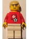 Minifig No: soc024s03  Name: Soccer Player - Swiss Player 2, Swiss Flag Torso Sticker on Front, Black Number Sticker on Back (specify number in listing)