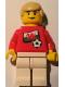 Minifig No: soc024s04  Name: Soccer Player - Welsh Player 2, Welsh Flag Torso Sticker on Front, Black Number Sticker on Back (specify number in listing)