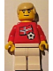 Minifig No: soc024s05  Name: Soccer Player - Norwegian Player 2, Norwegian Flag Torso Sticker on Front, Black Number Sticker on Back (specify number in listing)