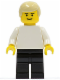 Minifig No: soc025  Name: Soccer Player White/Black Team Player 2