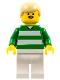 Minifig No: soc028  Name: Soccer Player Green & White Team  #9 on Back