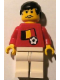 Minifig No: soc030s02  Name: Soccer Player - Belgian Player 3, Belgian Flag Torso Sticker on Front, Black Number Sticker on Back (specify number in listing)